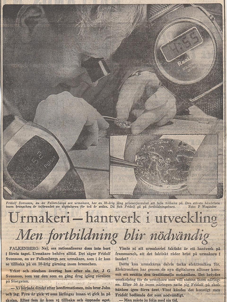 17b09c19138b Fredrik Svensson är utbildad urmakare. – Det är mycket armbandsur som  gäller nu. Många plockar fram sina armbandsur från 50- och 60-talet