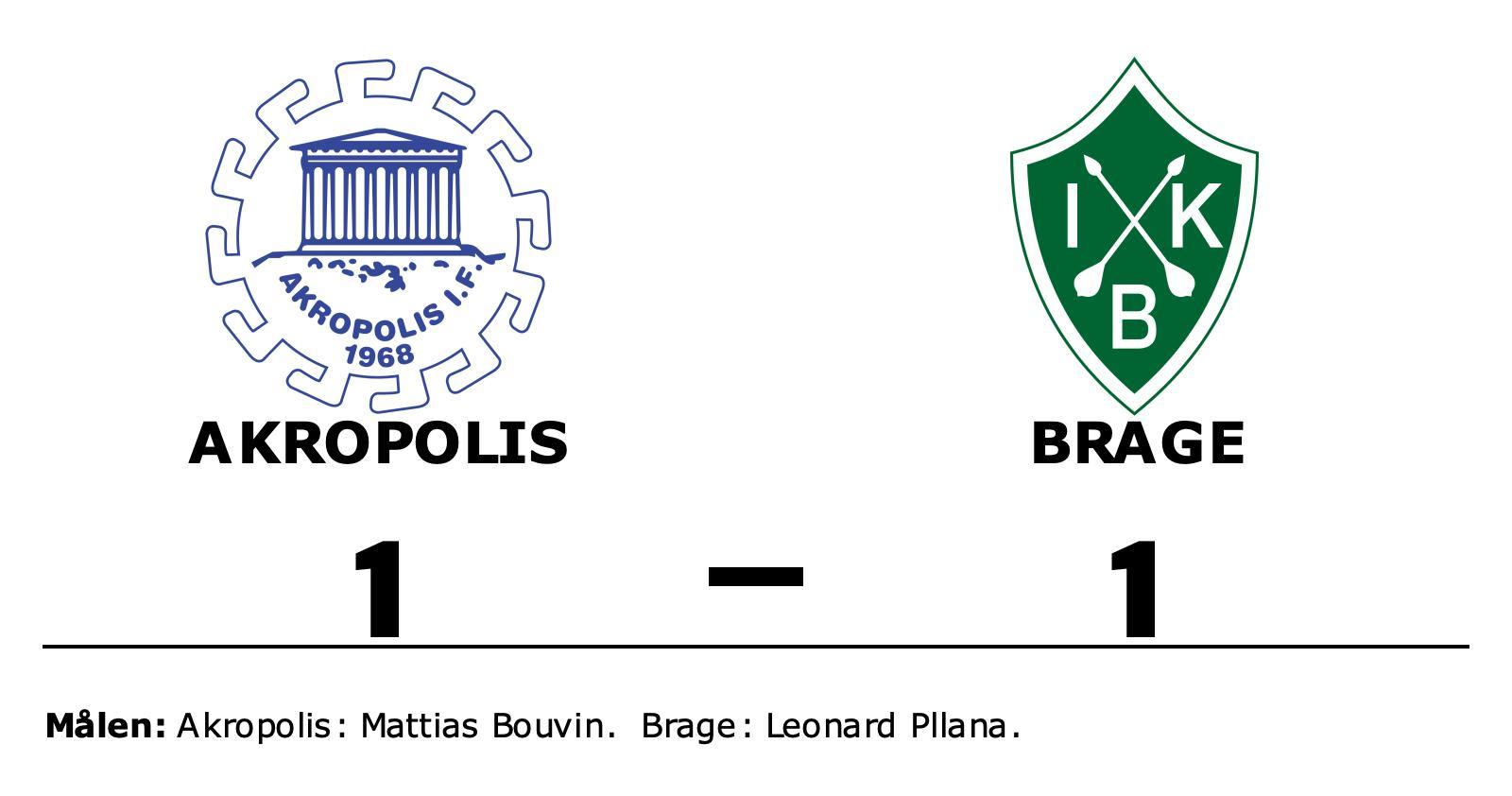 Leonard Pllana poängräddare för Brage mot Akropolis