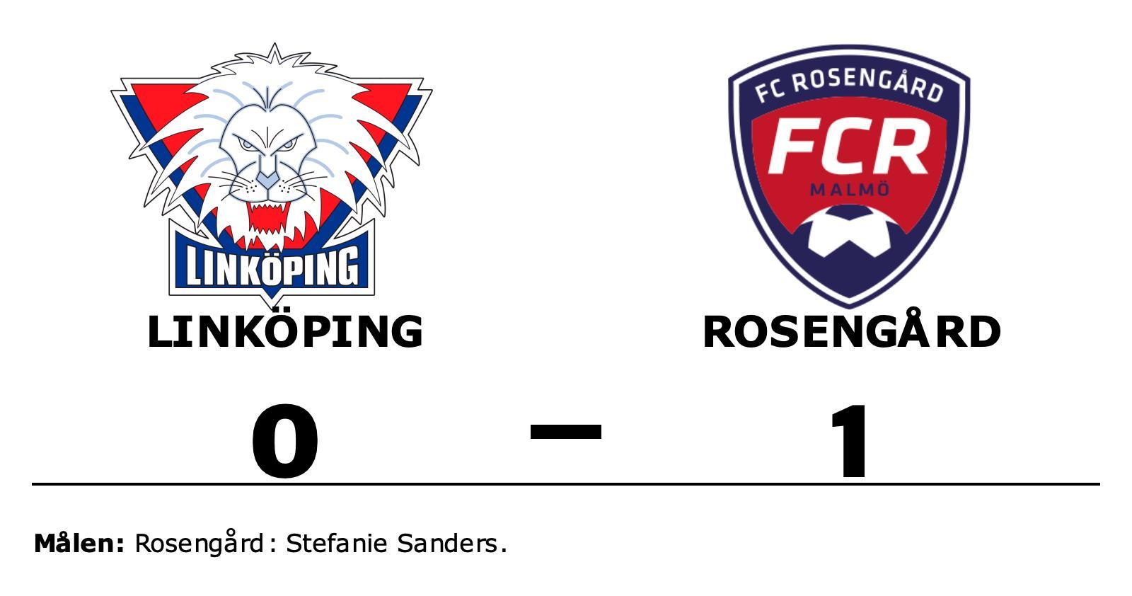 1–0-seger för Rosengård mot Linköping – Stefanie Sanders matchhjälte