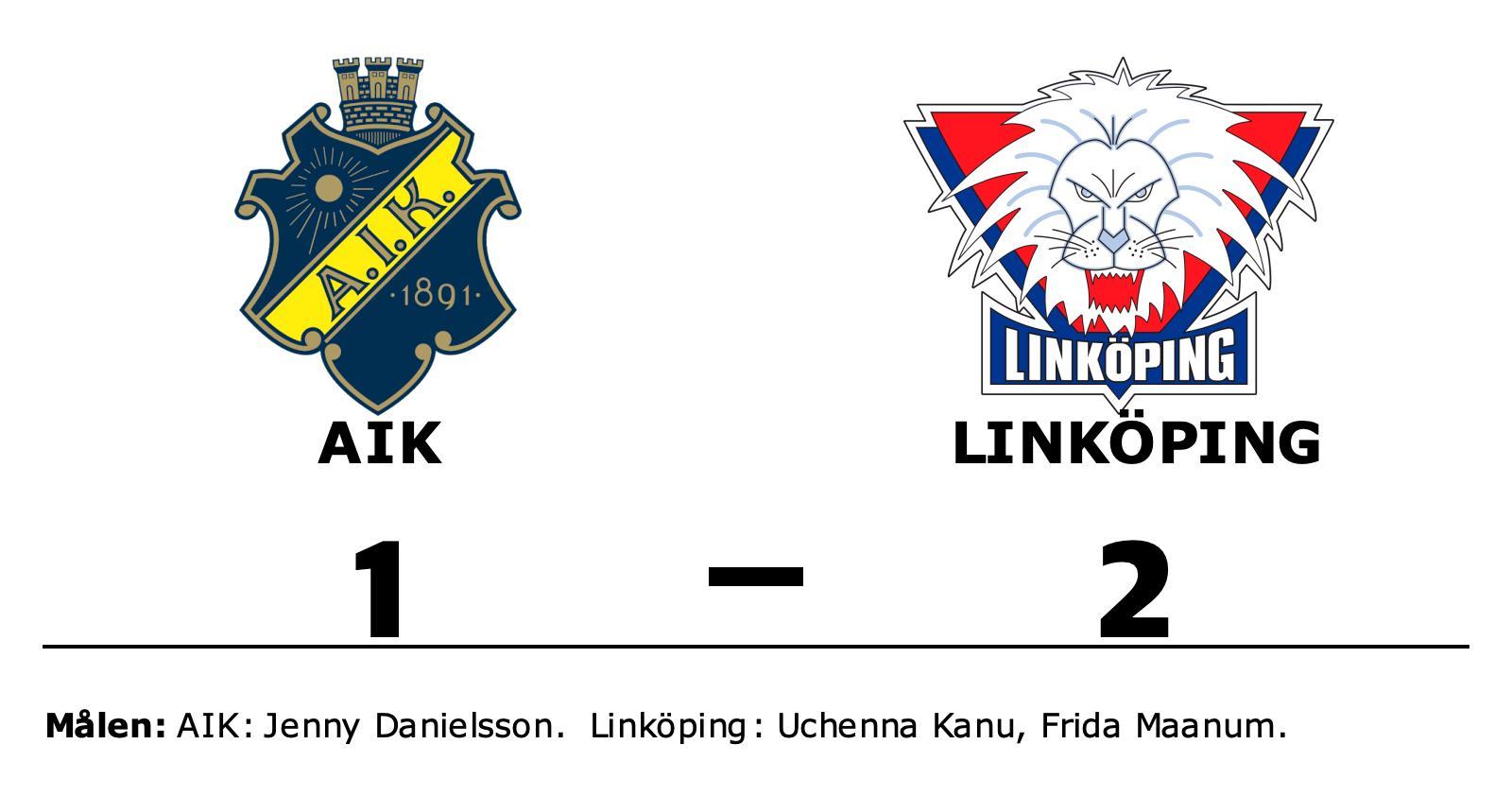 Linköping vann mot AIK på Skytteholms IP