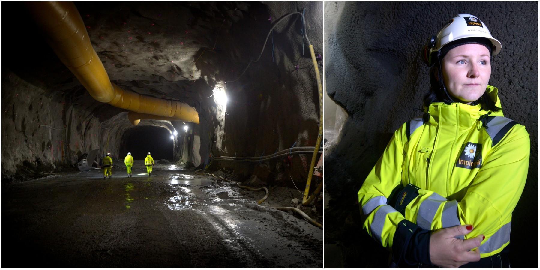 På besök i Varbergstunneln