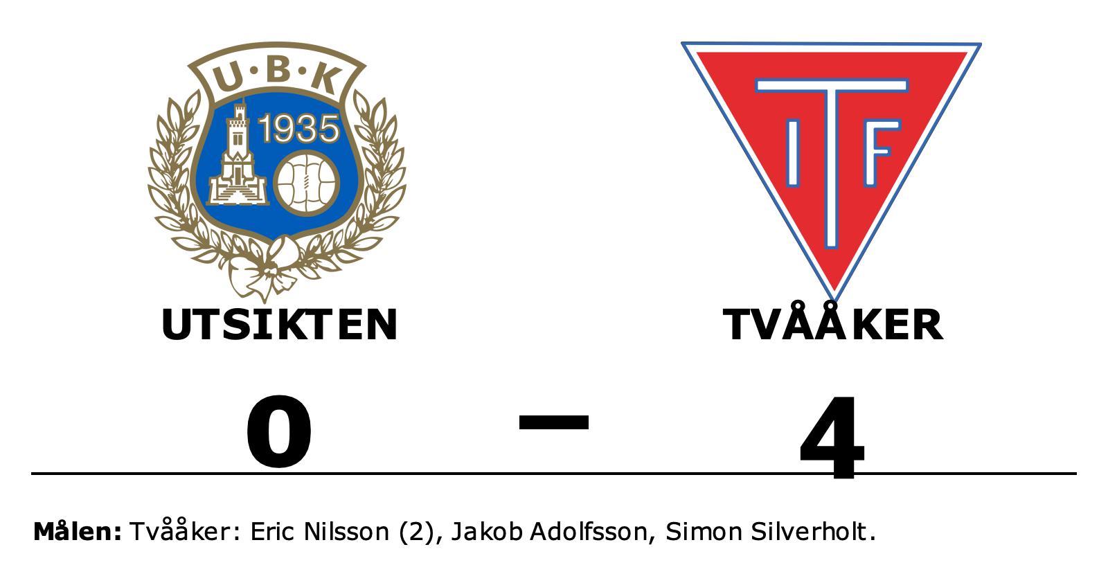 Eric Nilsson tvåmålsskytt för Tvååker i segern mot Utsikten