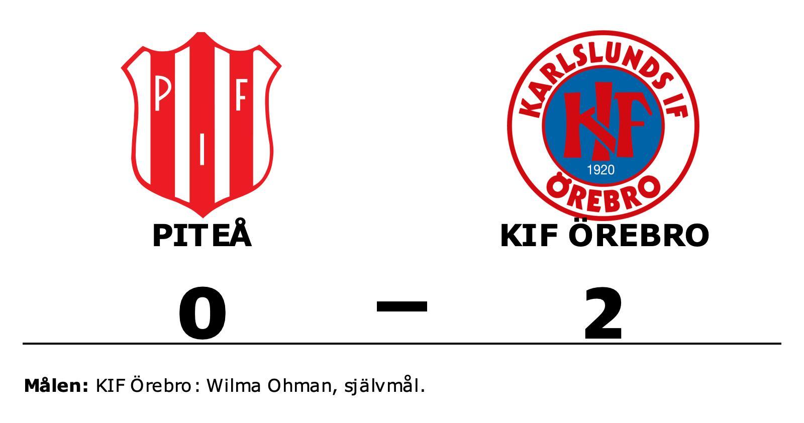 KIF Örebro tog rättvis seger mot Piteå