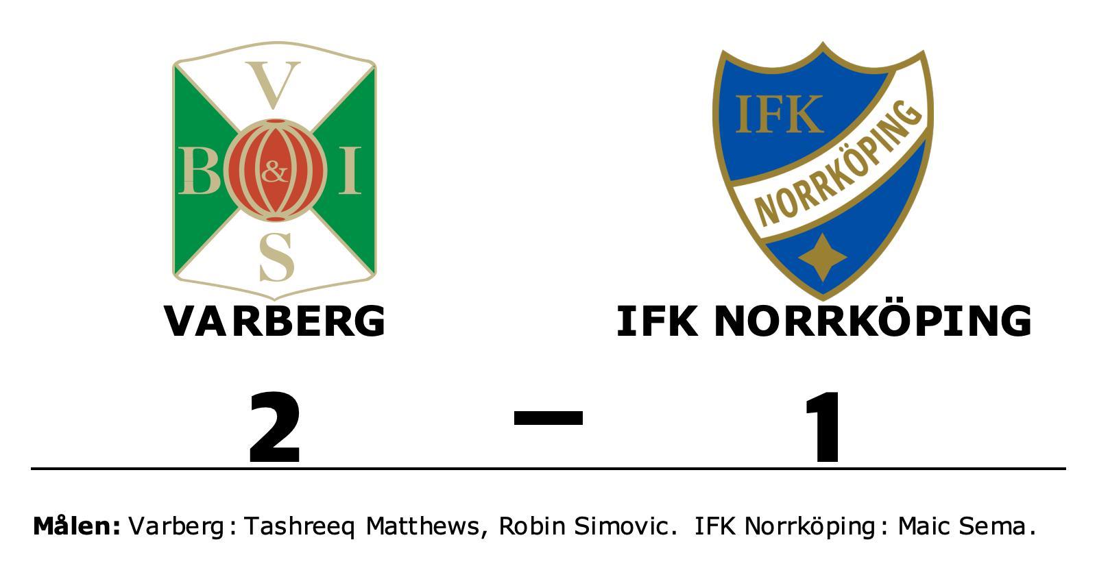 Varberg avgjorde i första halvlek mot IFK Norrköping