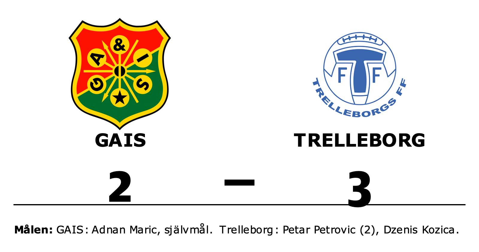 Trelleborg slog GAIS efter Petar Petrovics dubbel