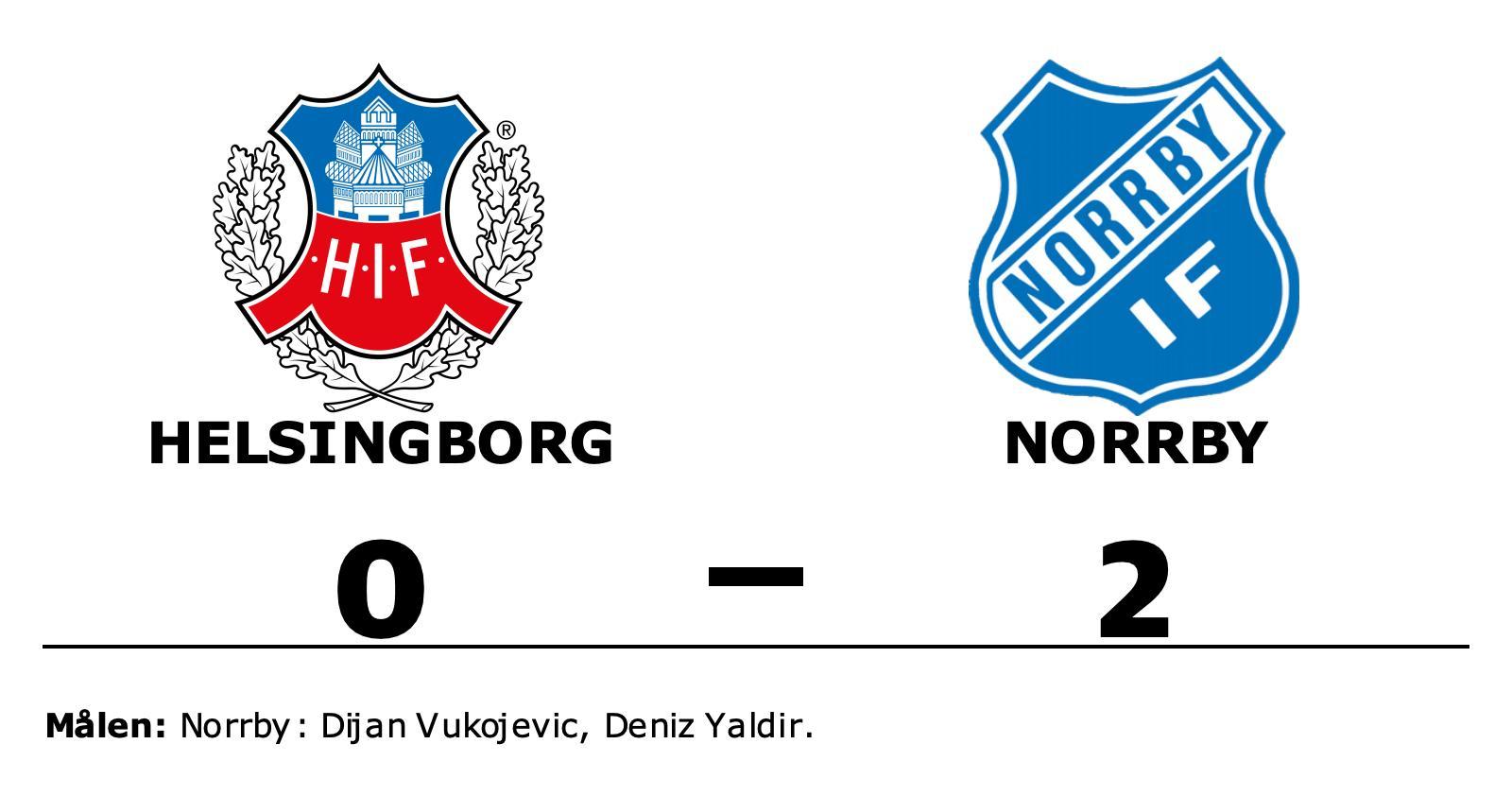 Norrbys Dijan Vukojevic och Deniz Yaldir sänkte Helsingborg