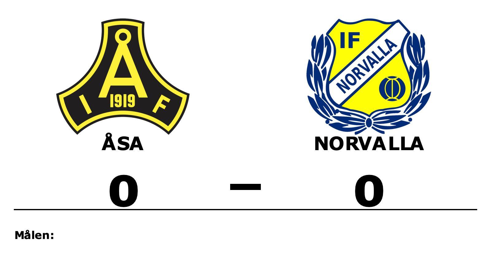 Åsa och Norvalla kryssade i mållös match
