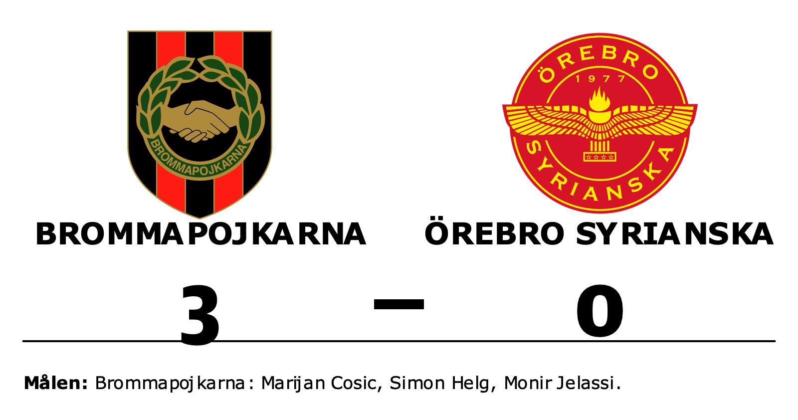 Segerraden förlängd för Brommapojkarna – besegrade Örebro Syrianska