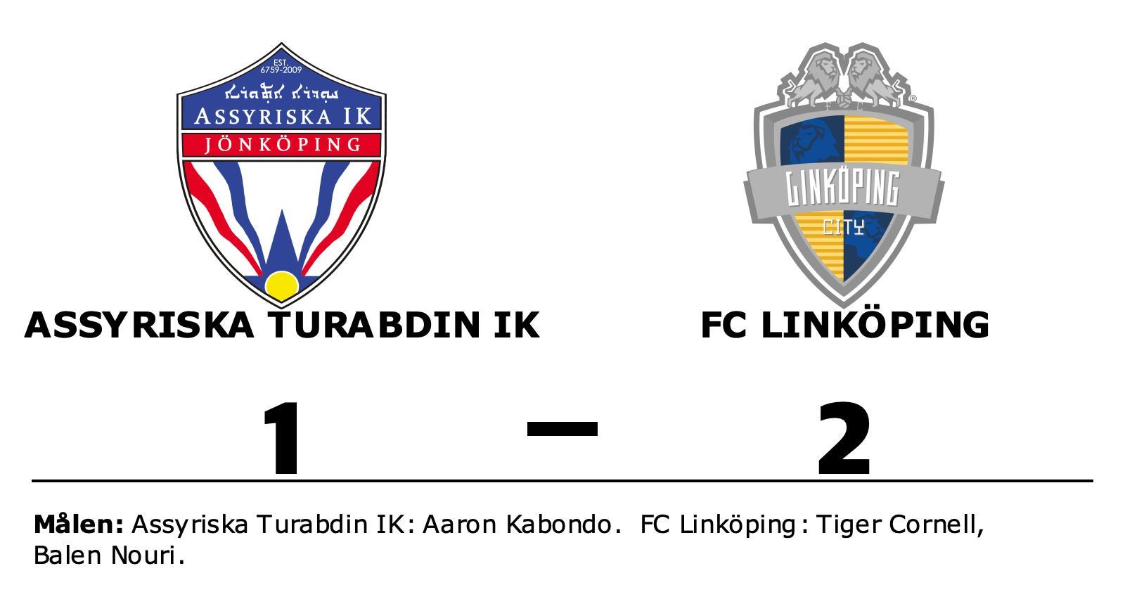 2-1 mot Assyriska Turabdin IK innebär första segern för FC Linköping
