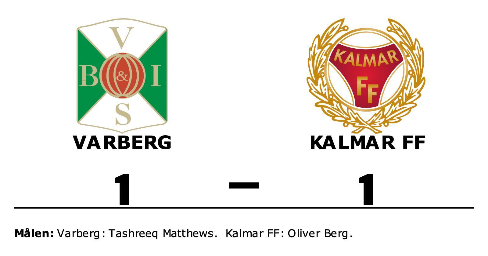 Varberg och Kalmar FF delade på poängen efter 1-1