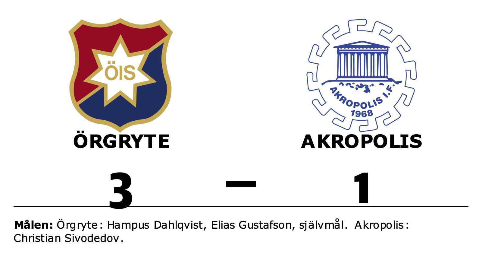 Tuff match slutade med seger för Örgryte mot Akropolis