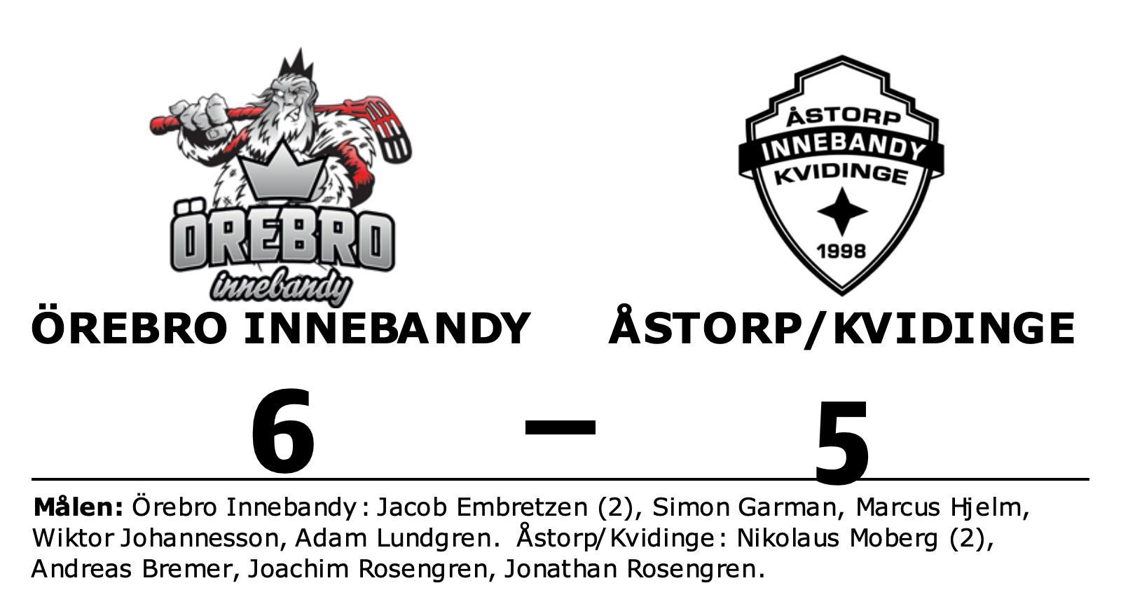 Örebro Innebandy slog Åstorp/Kvidinge efter Jacob Embretzens dubbel