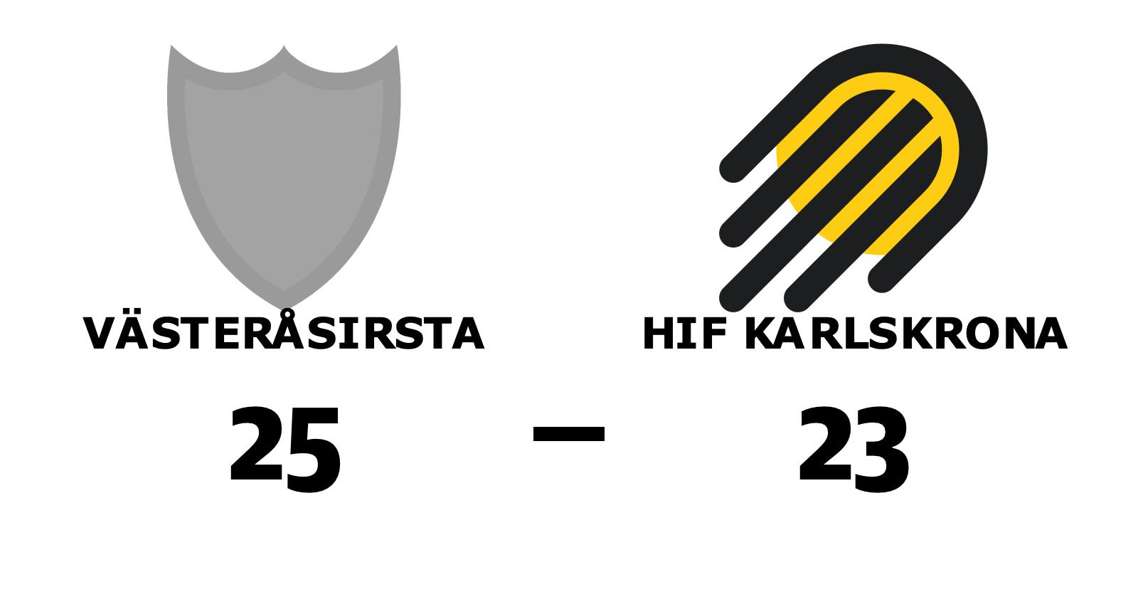 Seger för VästeråsIrsta på hemmaplan mot HIF Karlskrona