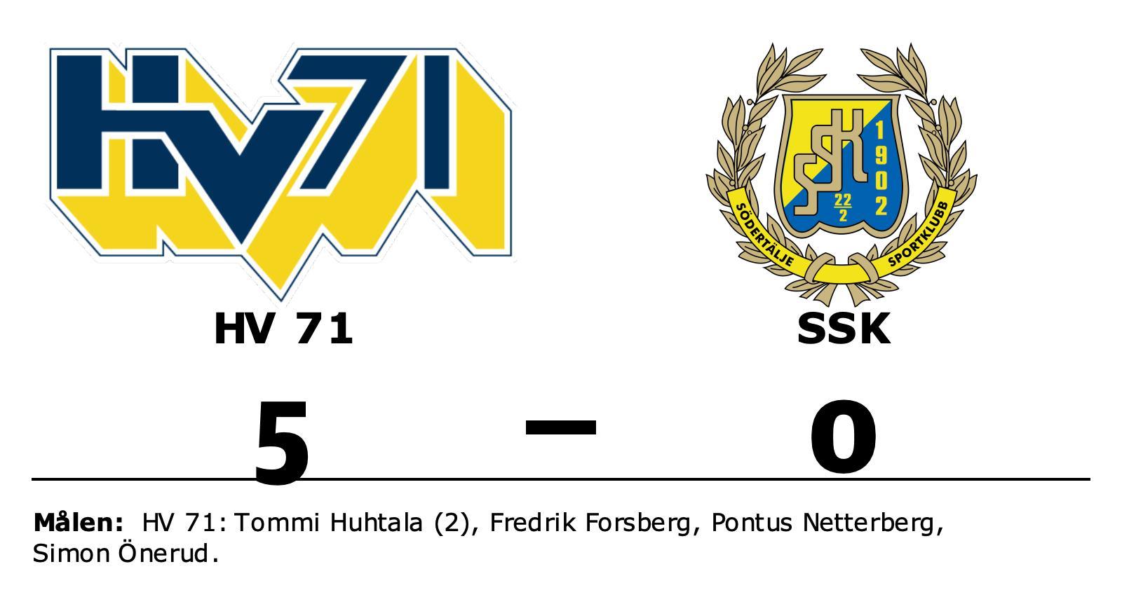 Stark defensiv när HV 71 vann mot SSK